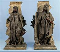 Anatole J Guillot Pair of Cast Orientalist Figures