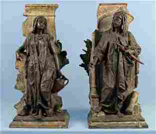 Anatole J Guillot Pair of Cast Orientalist Figures