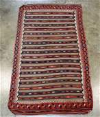 A Semi Antique Turkish Kilim Rug 5' X 9'