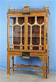 Chinese Chippendale Style Chinoiserie Cabinet