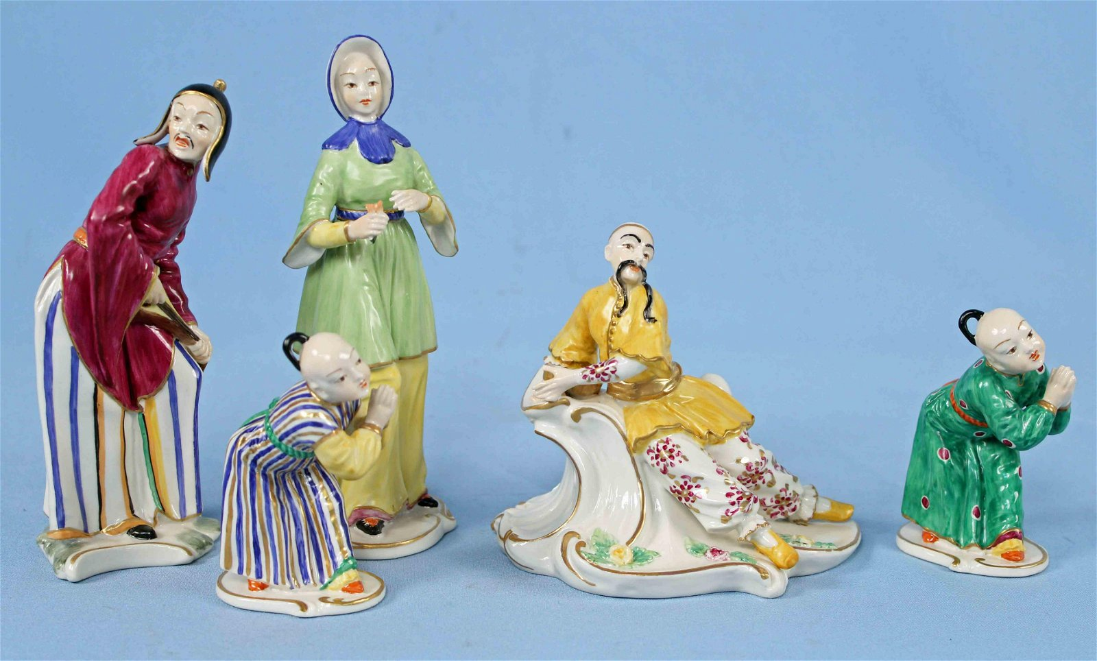 "Five Chelsea House Porcelain Figurines 4"" - 7"" H."