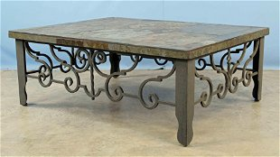 Amazing Wrought Iron Glass Top Modernist Coffee Table Sc Aug 06 Beatyapartments Chair Design Images Beatyapartmentscom