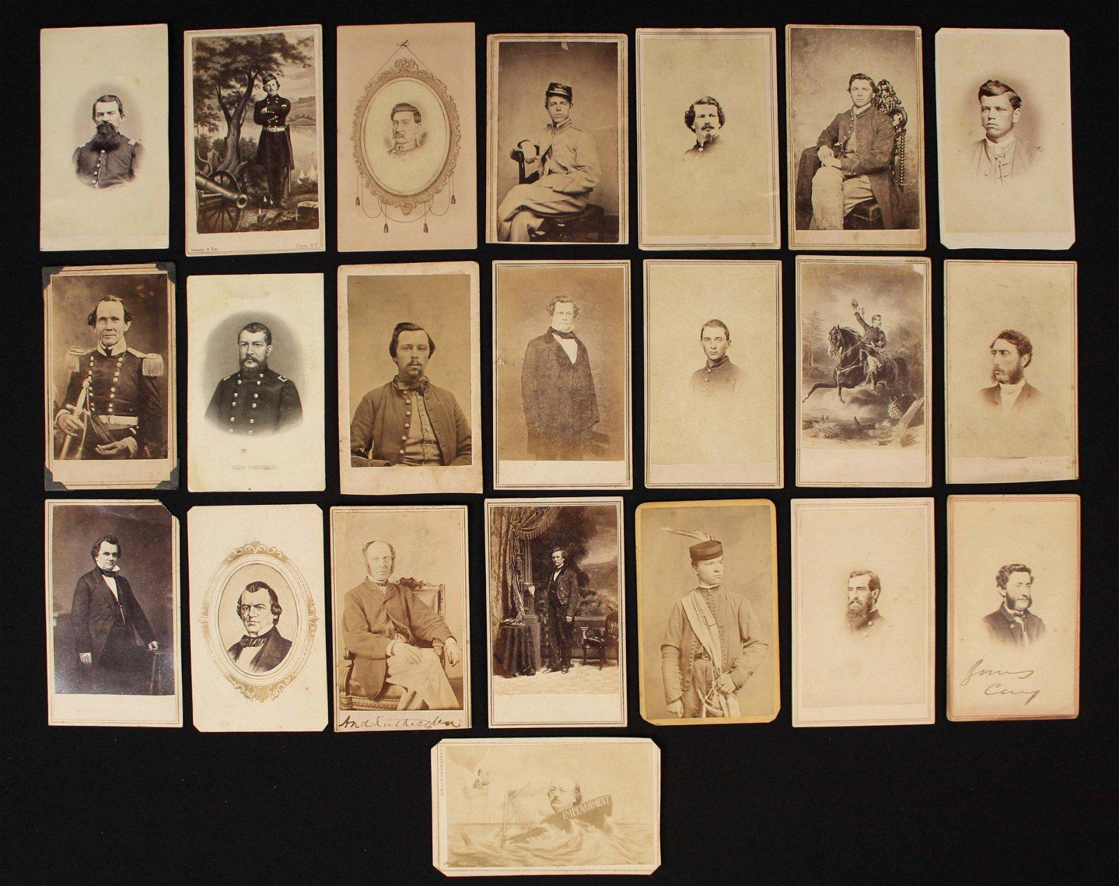22 Civil War Era Carte De Visite Photographs