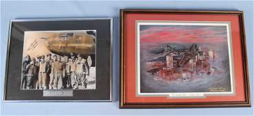 Two Memphis Belle Photographs 1 Signed by Captain