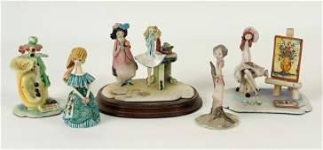Five Italian and French Ceramic Miniature Figures