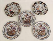 4 19th C Dinner Plates Macartney  Clews