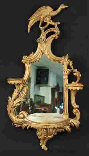 Italian Rococo Revival Mirrored Wall Bracket