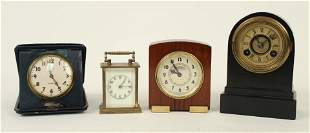 4 Small 1869 - 1950 Clocks Terry, Seth Thomas Etc.