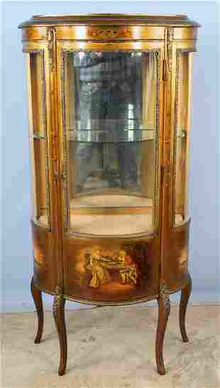 French Vernis Martin Style Curio Cabinet