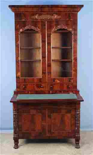 Empire Mahogany Secretary Desk C. 1840