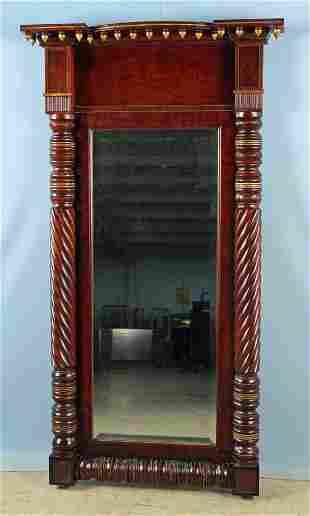 Empire Mahogany Wall Mirror C. 1830