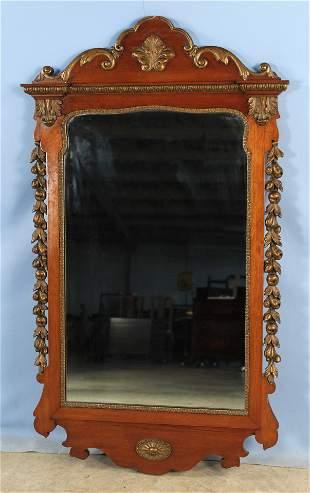 George III Style Mahogany Wall Mirror