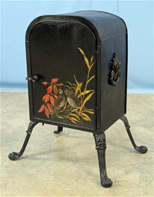 Fireplace Warmer w/ Hand Painted Quail Decoration
