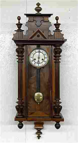 Gustav Becker Style Vienna Regulator Wall Clock
