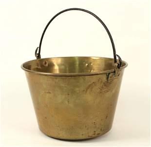 Waterbury Brass Co. Brass Bucket 1873