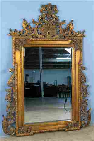 Contemporary French Style Gilt Wall Mirror