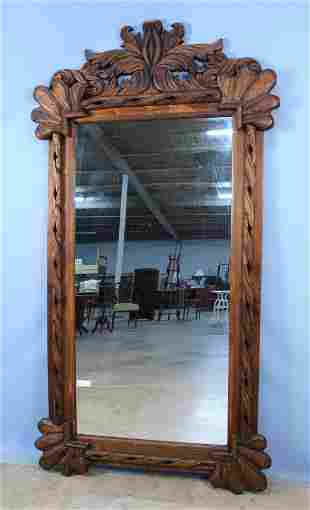 Large Hand Carved Mexican Wall Mirror
