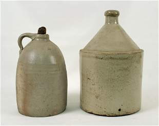 Stoneware Chicken Waterer and Early TN Jug