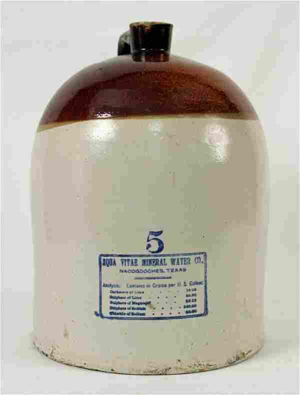Aqua Vitae Mineral Water Co, Texas Jug 5 Gal.