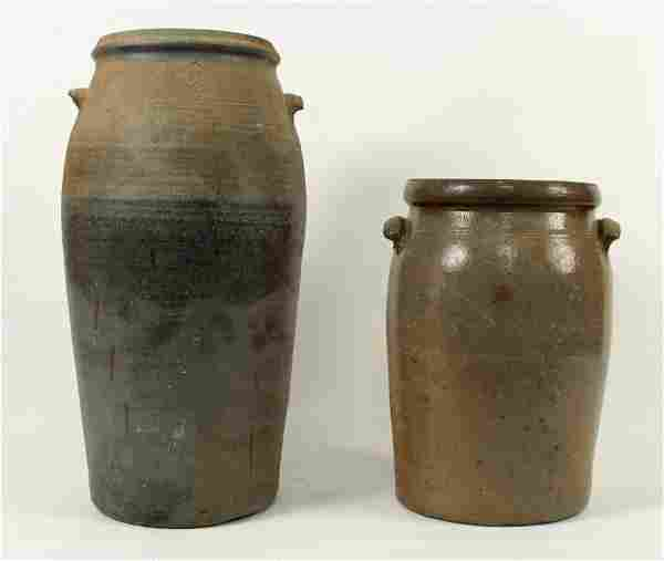 Two 19th C. Tennessee Churns w/ Damage