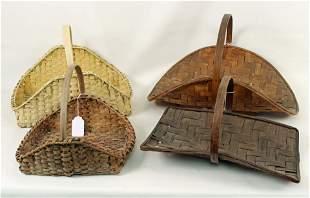 Four Split Oak Flower Gathering Baskets