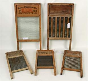 Five Washboards and One Butter Mold