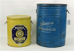 Zinsmeister Coffee and Magnolia Lard Cans