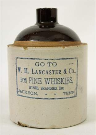 W. H. Lancaster & CO. Whiskey Jug, Jackson, TN.