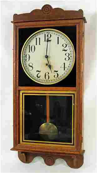 Sessions Oak Regulator Clock C. 1910