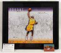 Kobe Bryant Autographed Signature Slam Photo