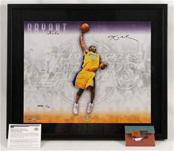 Kobe Bryant Autographed Signature Slam Photo