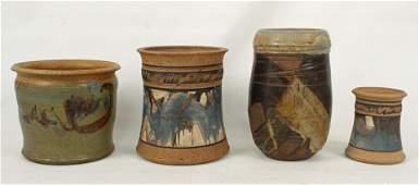 Four Pieces of Studio Art Pottery