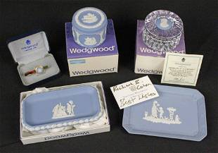 Wedgewood Group w/ Paperweight, Box Etc.