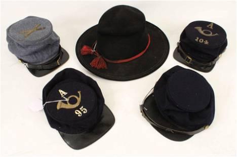Group of Reenactor's Civil War Hats