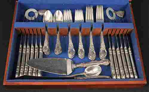 55 Pieces Lunt American Victorian Sterling Flatware