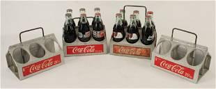Four Aluminum Coca-Cola Bottle Carriers, 1950s