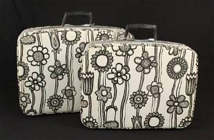 Two Samsonite Fashionaire Flower Power Suitcases