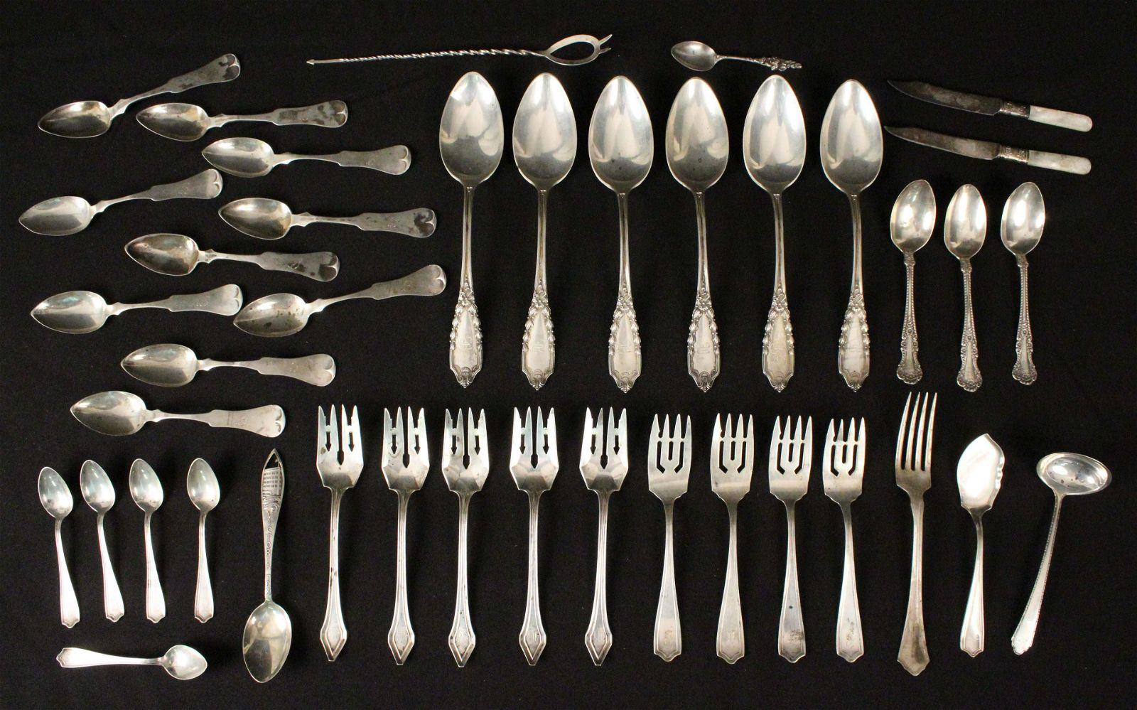 Mixed Group of Sterling Silver Flatware Etc.