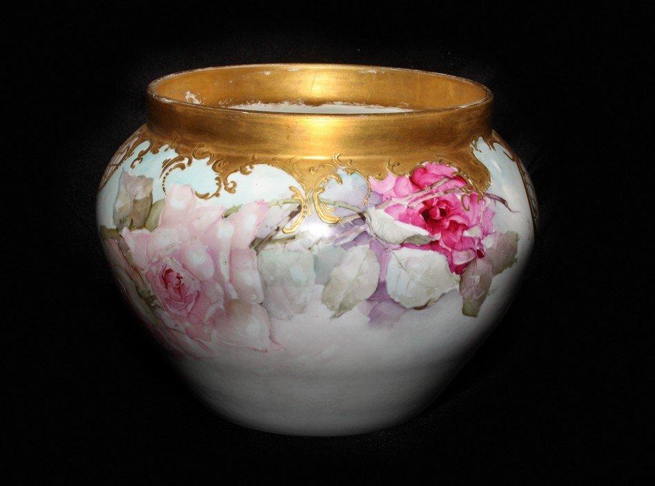 1: Floral Decorated Limoges Jordanaire