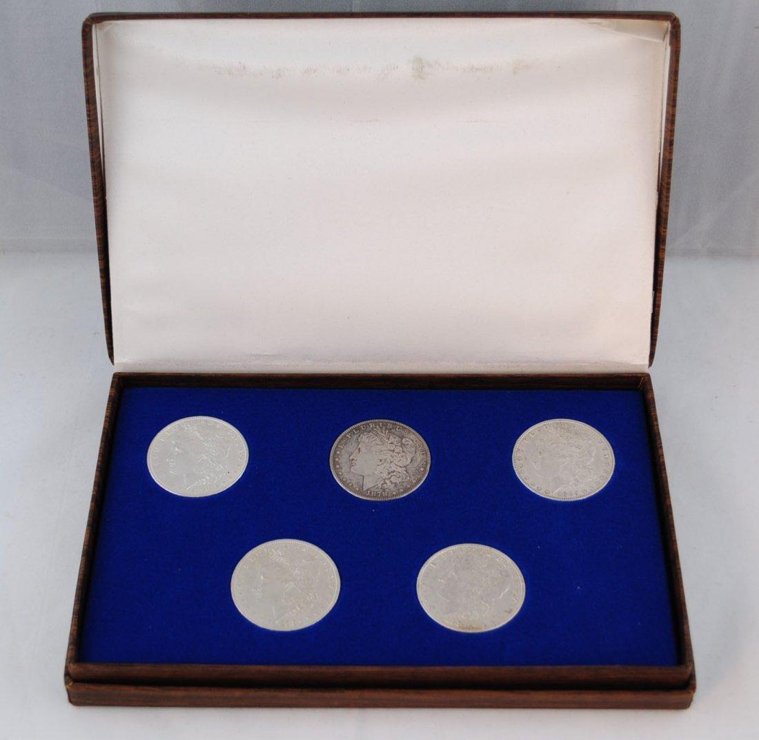 2: 5 Morgan Silver Dollars Including 8TF 1878
