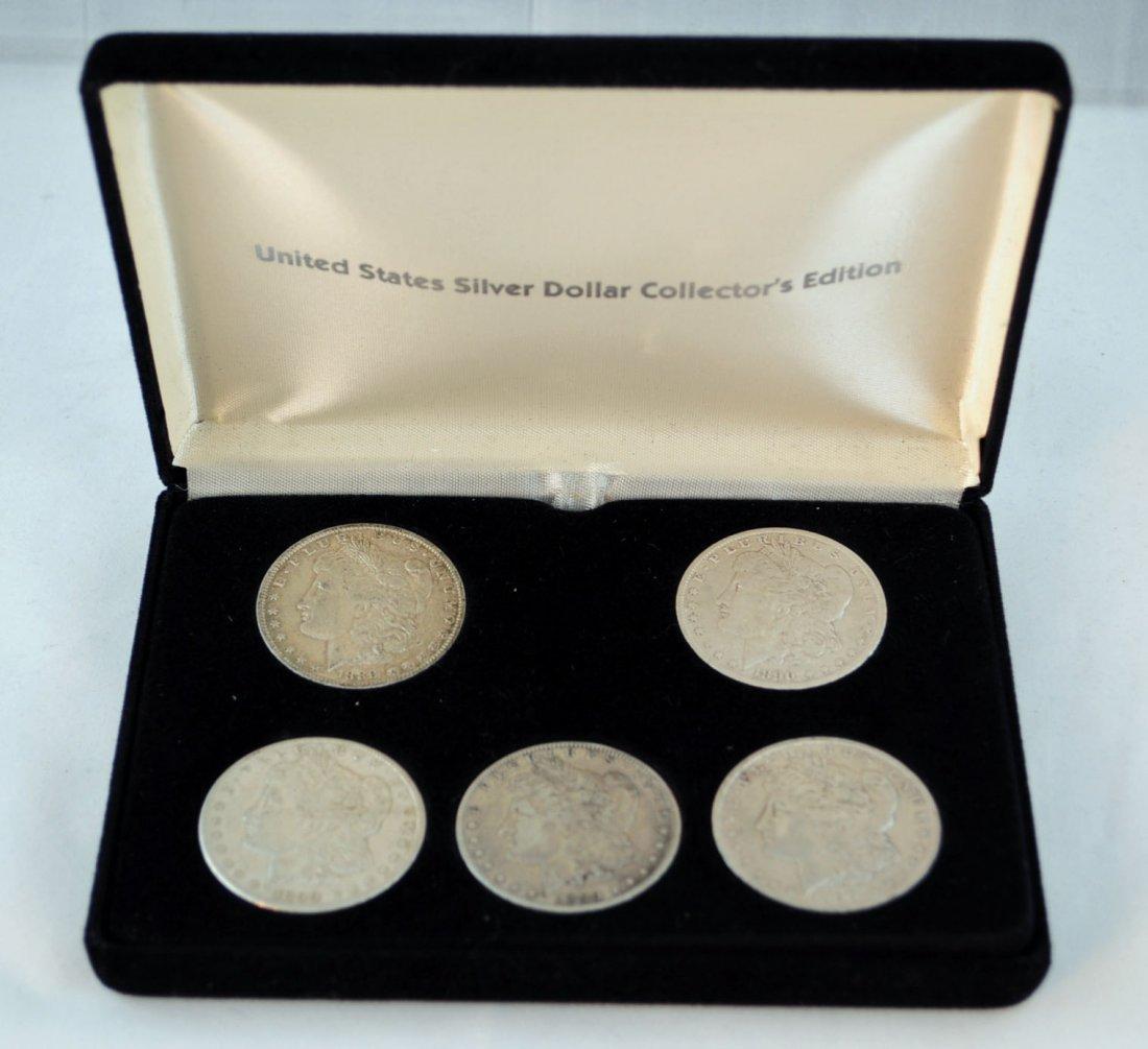 3: 5 Morgan Silver Dollars 1889-1899