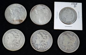10: 5 Silver Dollars and 1 Silver Half Dollar