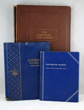 11: 3 Books - 1938-1964 Jefferson Nickels 150 Coins
