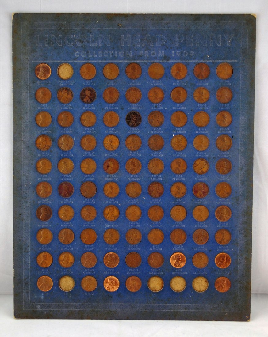 13: 85 Lincoln Cent Collection 1909-1941 D