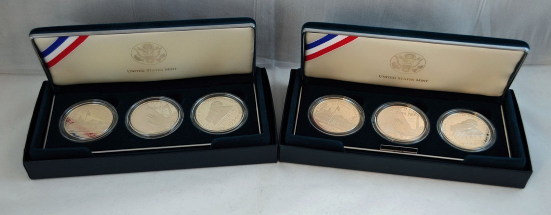 22: 2 - 1994 U.S. Veterans Silver Dollar Proof Sets