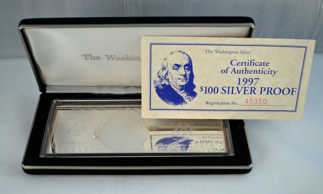 23: 1 - Silver $100 (4 oz. Troy) .999 Pure 2007 Proof