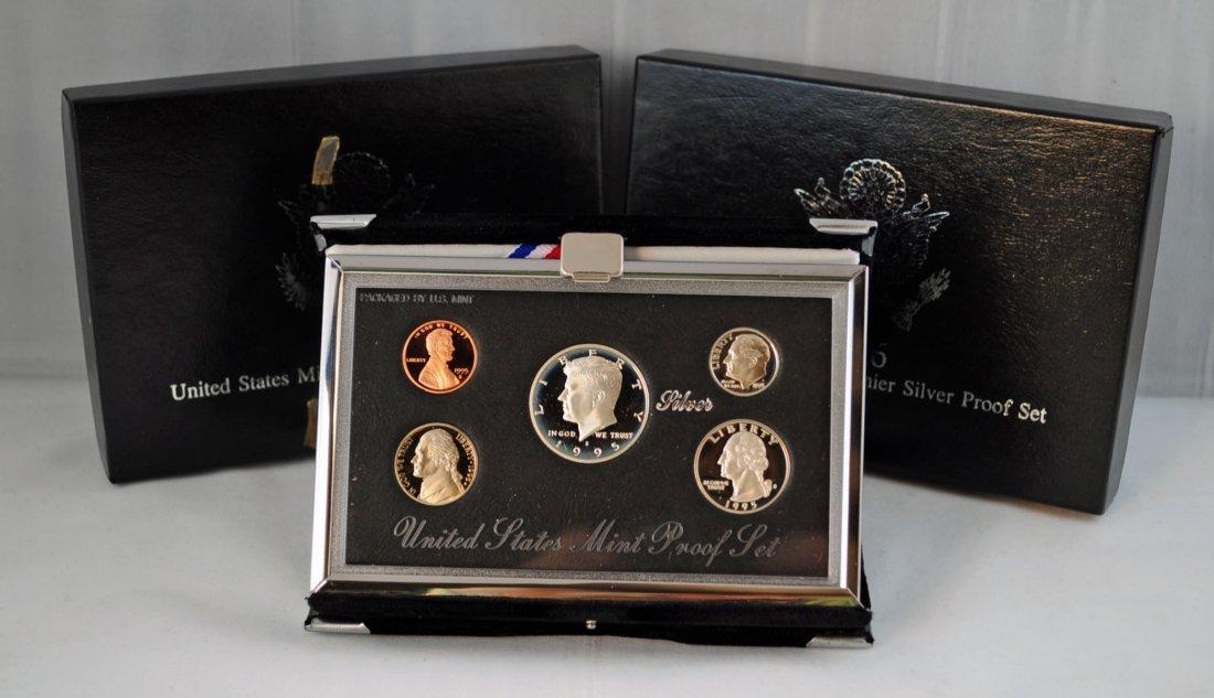 24: 3 - U.S Mint Premier Silver Proof Sets 1995-1997