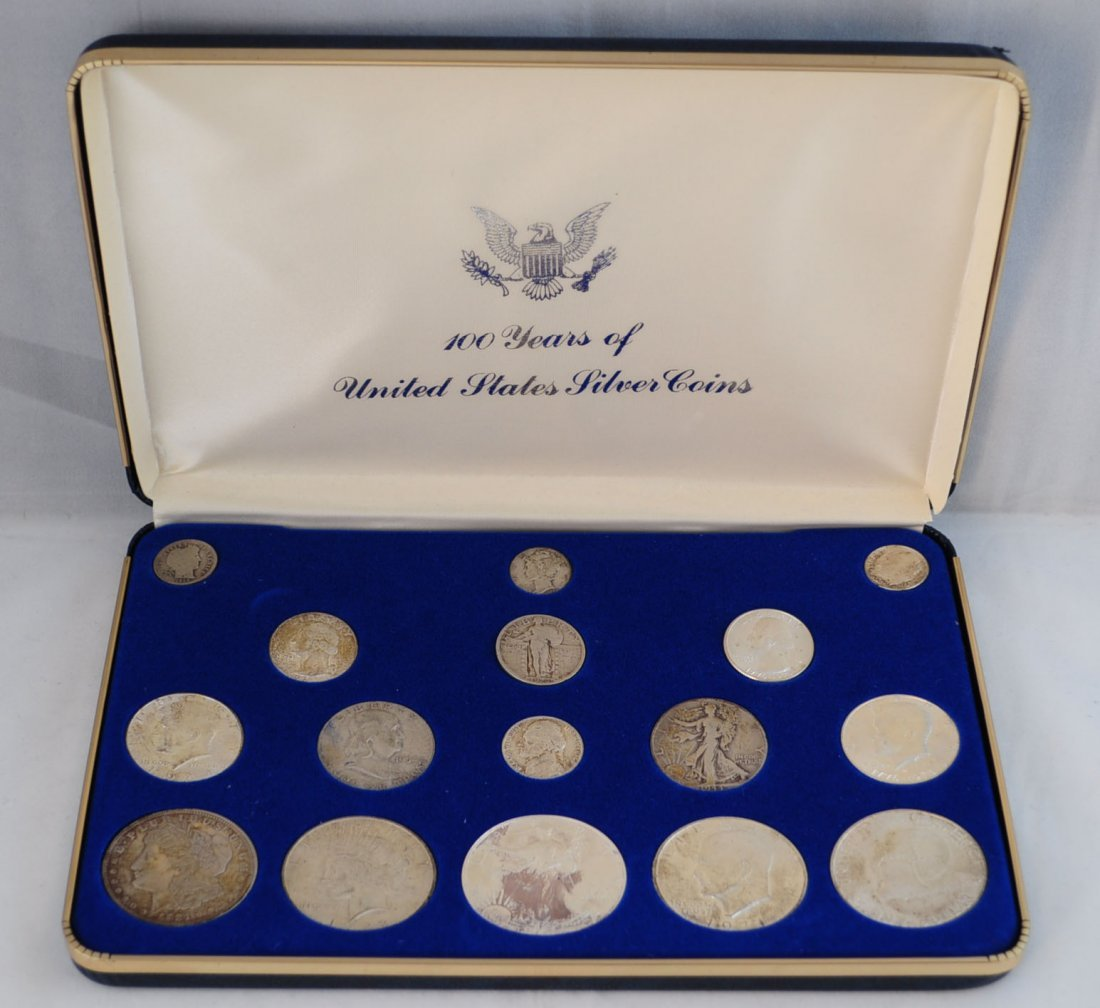 48: US 100 Years of United States Silver Coins Set