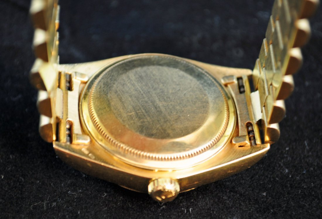 69: Rolex Men's Oyster Perpetual Day Date Watch 18K Gol - 3
