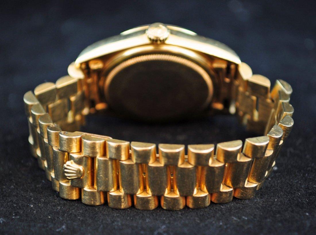 69: Rolex Men's Oyster Perpetual Day Date Watch 18K Gol - 4